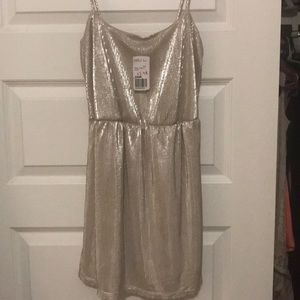 Brand new metallic silver party dress!